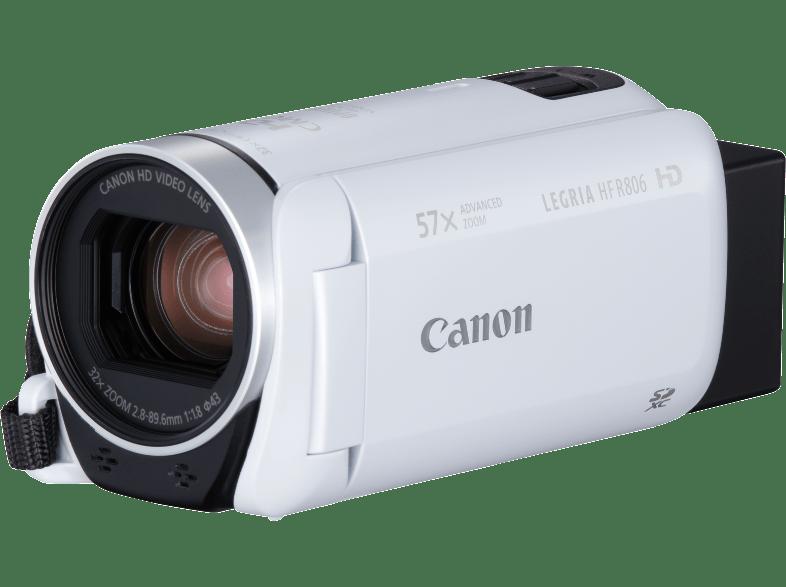 CANON Legria HF R806 videokamera, fehér + táska + 8GB SD kártya