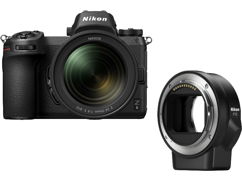 NIKON Z 6 + 24-70 mm + FTZ bajonettadapter Kit