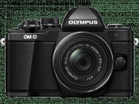 OLYMPUS OM-D E-M10 Mark II fekete + EZ-M1442 II R fekete Kit