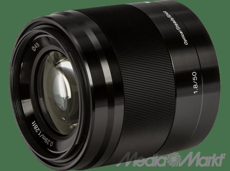 SONY E 50 mm f/1.8 OSS fekete objektív
