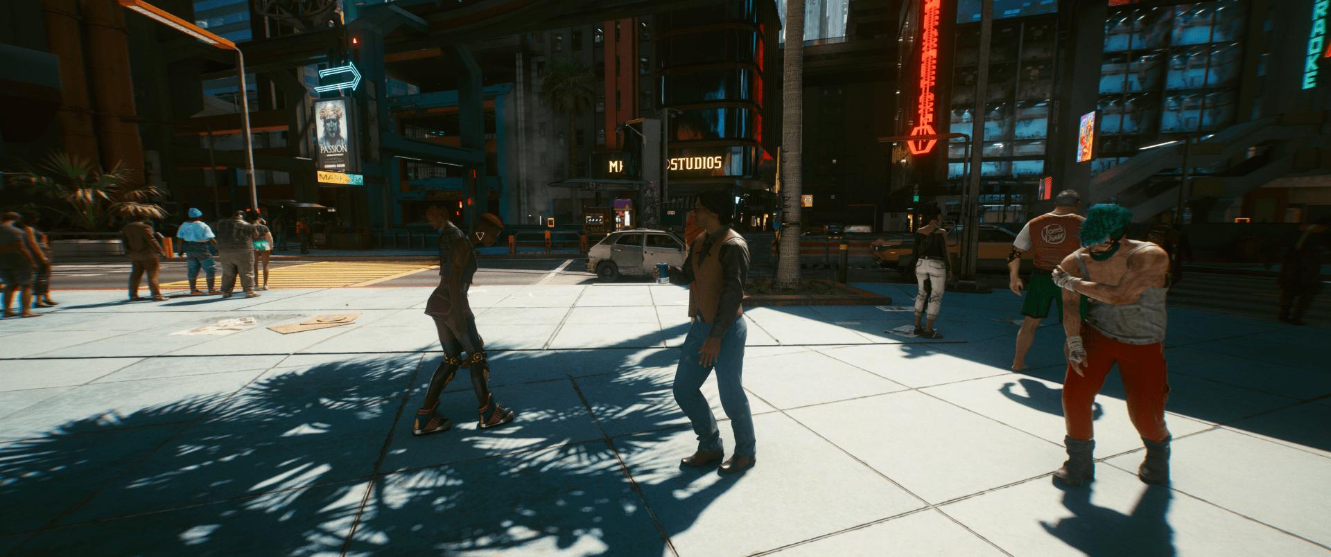 Magas árnyék- és megvilágítási beállítások a Cyberpunk 2077-ben