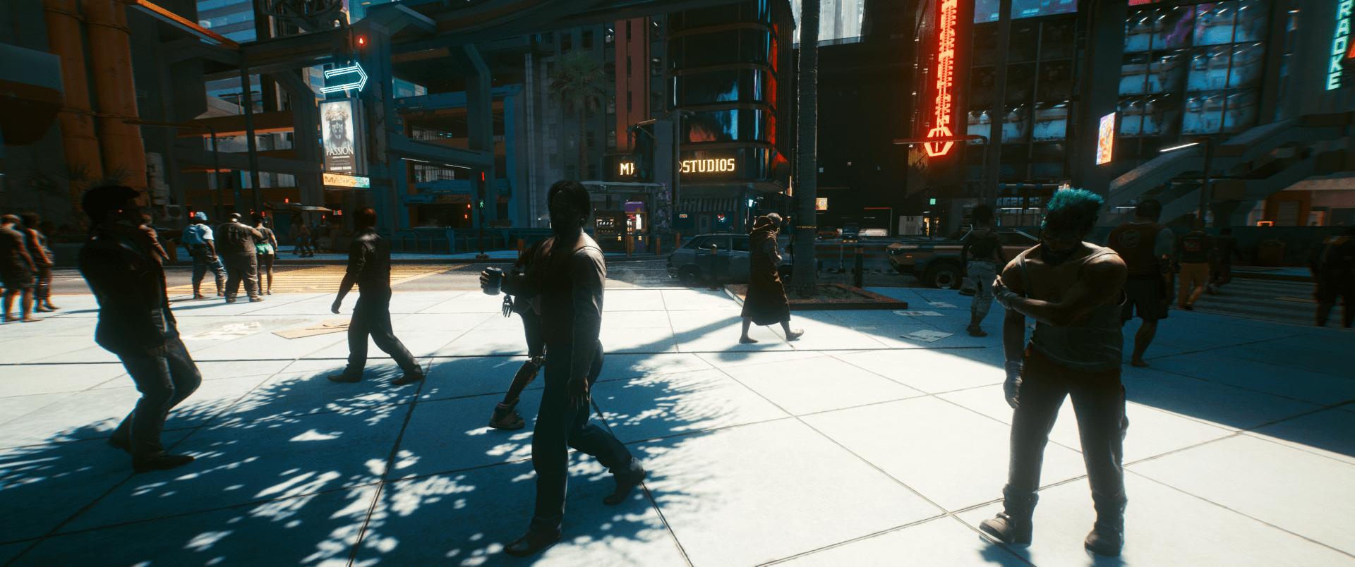 alacsony árnyék- és megvilágítási beállítások a Cyberpunk 2077-ben