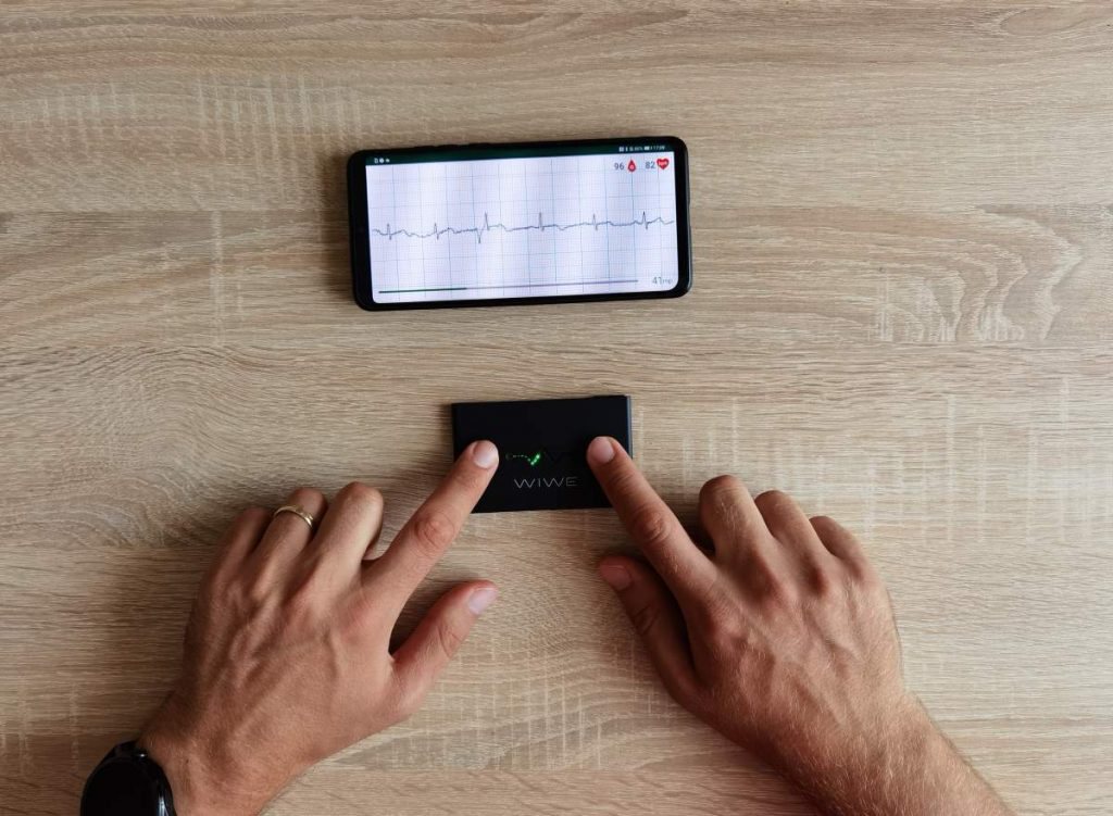 WIWE mobil EKG mérés közben